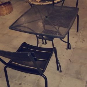 Black Patio Table And 2 Chairs for Sale in Los Angeles, CA