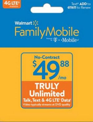 Family mobile phone card just bout 1 to many and could use Xmas money instead for Sale in East Gull Lake, MN