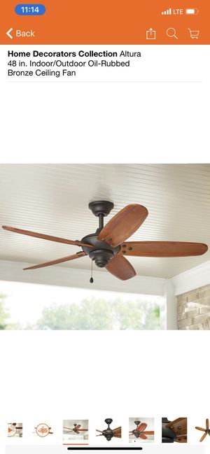 Home decorators collection 48 inch indoor outdoor ceiling fan for Sale in Peoria, AZ
