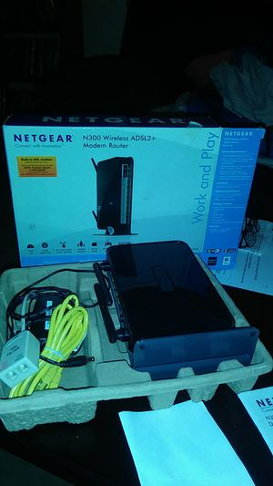 Wireless modem router built in dsl modem for Sale in Elyria, OH