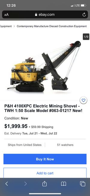 Bucyrus electric mining shovel for Sale in Billings, MT