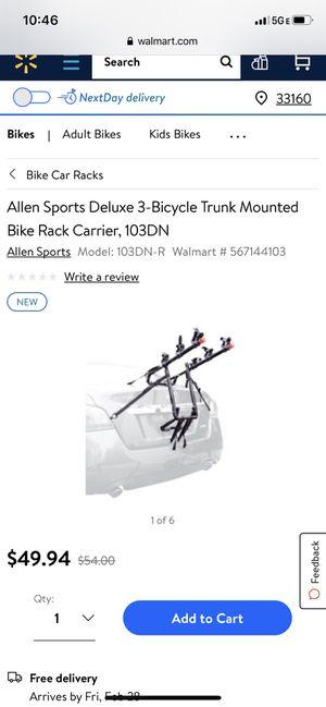 Allan deluxe 3 bikes rack for Sale in North Miami Beach, FL