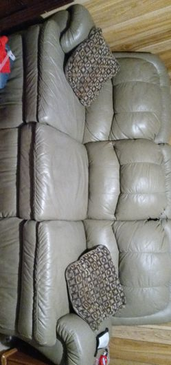 Leather Couch with Built in Recliners p for Sale in Highland,  IL
