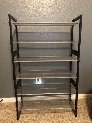 Silver mesh/wood shelves for Sale in Burleson, TX