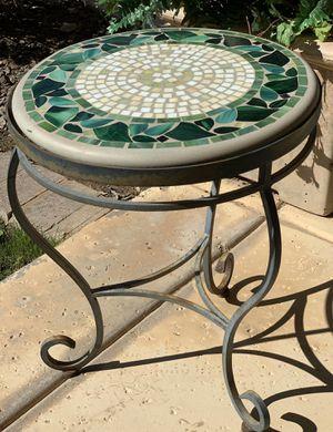 Leaf Tile Mosaic Patio Side Table for Sale in Phoenix, AZ