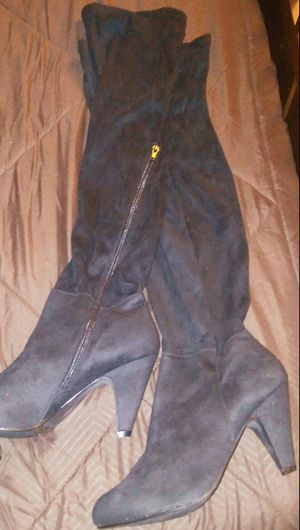 Black Thigh High Boots 7 1/2 for Sale in Alexandria, VA