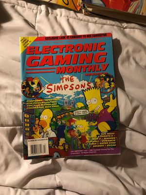 Electronic gaming monthly Simpsons edition for Sale in Eau Claire, WI