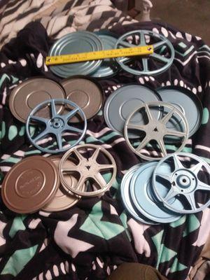 """5 Vintage Film Reel lot. 7"""" Reelane, 6"""" Compco, 6"""" Scherer, 5"""" Compco & Kenco for Sale in Pahrump, NV"""