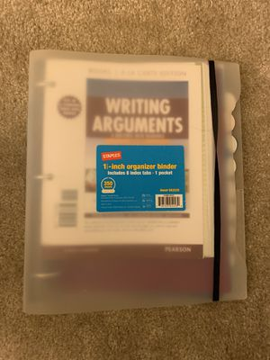 Writing Arguments Textbook w/ 1 inch binder for Sale in Columbia, MD