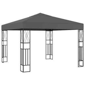 Gazebo 9.8'x9.8' Anthracite Fabric Patio Sunshade Garden Outdoor Tent for Sale in Los Angeles, CA