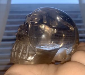 Light citrine crystal skull-A19 for Sale in Queens, NY