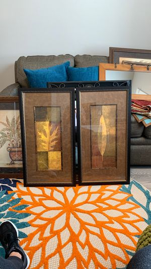 Pair of framed wall art for Sale in Gresham, OR