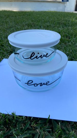 Pyrex Glass Storage Circular Containers w/ Lids for Sale in Santa Ana, CA