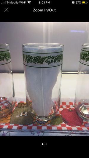 Pyrex crazy daisy blossom tea glasses for Sale in Whittier, CA