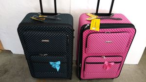 ACTIVE TRAVEL BLUE AND PINK LUGGAGES $90.00 ($45.00 EACH ONE) BRAND NEW 4 WHEELS LIGHT WEIGHT EXPANDER SYSTEM for Sale in HALNDLE BCH, FL