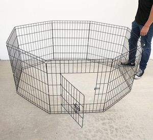 """New in box $30 Foldable 24"""" Tall x 24"""" Wide x 8-Panel Pet Playpen Dog Crate Metal Fence Exercise Cage for Sale in Whittier, CA"""