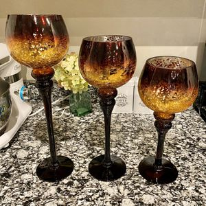 Candle Holder Glass Charismas for Sale in Houston, TX