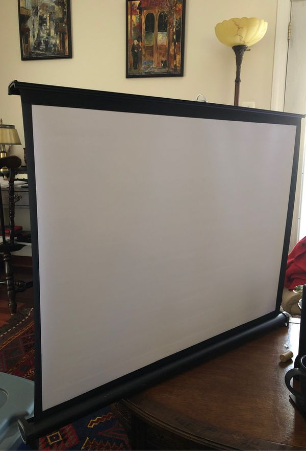 "Projector Screen.36"" X 26"". Retractable. Portable. Never Used."