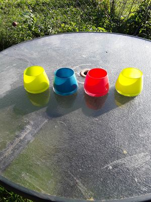 Set of 4 multi colored glass for Sale in Lexington, KY