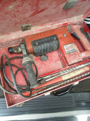 Milwaukee thunder bolt concrete hammer drill with drill bits for Sale in Lancaster, PA