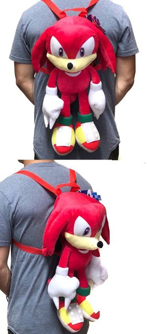 """NEW! Knuckles From """"Sonic The Hedgehog """" Plush Novelty Backpack. For Traveling/Everyday Use/Gifts $22 for Sale in Carson, CA"""