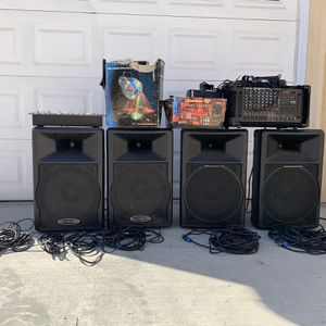 DJ Equipment - Including Cables, Amp, and Tripods for Sale in Long Beach, CA