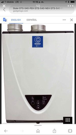 Tankless water heater for Sale in Fall River, MA
