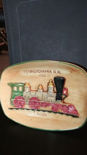 Antique piece of beautiful pennsbury POTTERY. Table tray or wall hanger. Dated 1856. for Sale in Warren Park, IN
