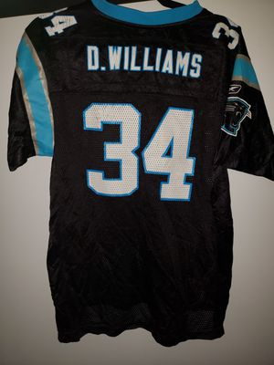 D'ANGELO WILLIAMS NFL CAROLINA PANTHERS JERSEY YOUTH XL for Sale in Alexandria, VA