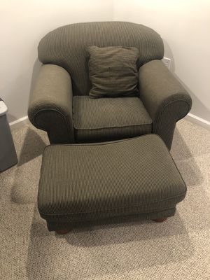 Chair and foot rest for Sale in Herndon, VA