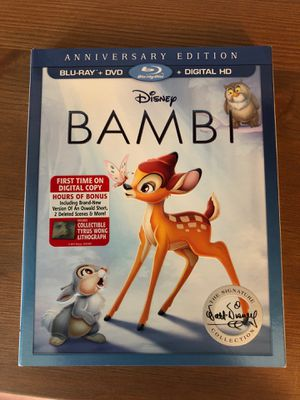 Bambi blu ray slip cover only for Sale in Jacksonville, FL