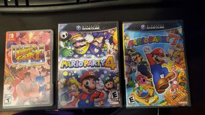 Mario party 4 Mario pary 7 Street fighter 2 for Sale in Woburn, MA