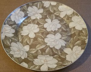 Shabby Chic style white flower glass plate handmade for Sale in Three Rivers, MI