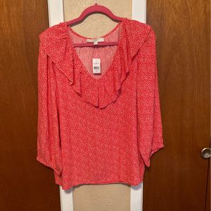 Ruffle Blouse with Hearts. for Sale in Red Oak, TX
