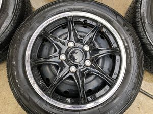 All Season Tires + Hubcaps for sale (205/55 R16) Firestone for Sale in Des Plaines, IL
