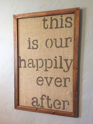 Rustic burlap sign wall decor 21x32inches for Sale in Henderson, NV