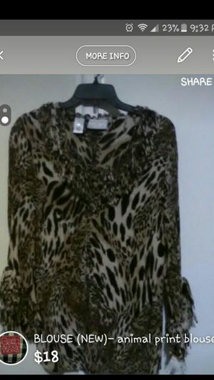 Animal Print Blouse for Sale in Harrisburg, PA