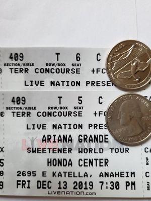 Ariana Grande At Honda Center 12/13 for Sale in Alhambra, CA