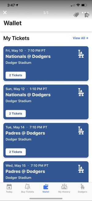 Dodgers post season tickets for Sale in Ontario, CA