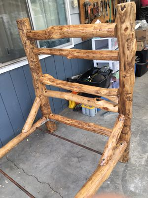 Log bed frame (twin size) for Sale in Yakima, WA