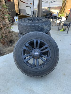 5 lug rims and tires for Sale in Bakersfield, CA