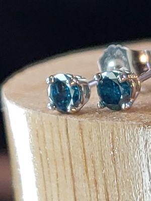 Blue Diamond Earrings, $300.00 for Sale in Bellevue, WA