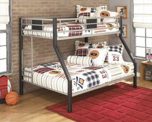 Dinsmore Black/Gray Twin/Full Bunk Bed for Sale in College Park,  MD