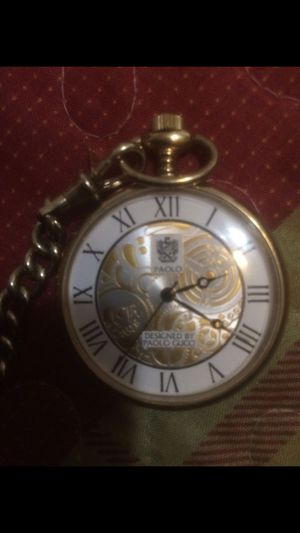 Pocket watch designed by paolo Gucci for Sale in Lynwood, CA
