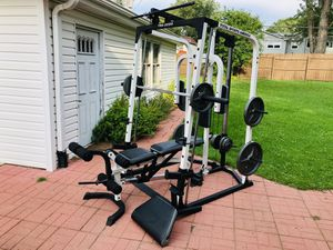 Smith Machine - Bench Press - Squat Rack - Lat Pull Down - Olympic Weights - Work Out - Training for Sale in Woodridge, IL