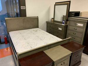 👉 $39 down payment 🥎 -  Louis Philip Gray Sleigh Bedroom Set 😴😴 for Sale in Laurel, MD