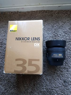 Nikon camera lens 35mm 1.8g for Sale in Malden, MA