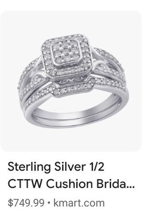 Sterling Silver Diamond Bridal Set for Sale in Inwood, WV