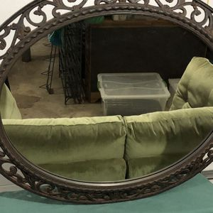 Antique Bronze fleur de lis beveled accent mirror (originally $400) for Sale in Arlington, VA
