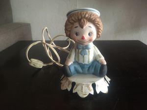 Underwriters Laboratories Vintage Portable Clown Nursery Lamp in EUC Works! for Sale in Modesto, CA